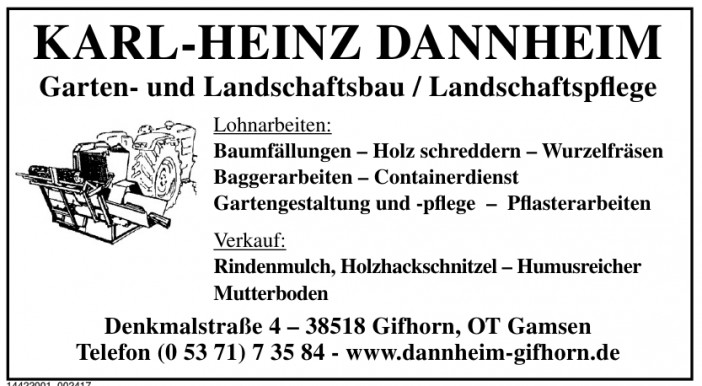 Karl-Heinz Dannheim Garten- und Landschaftsbau/Landschaftspflege