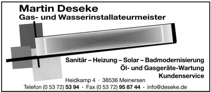 Martin Deseke Gas- und Wasserinstallateurmeister