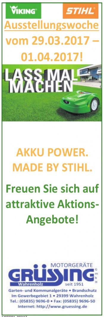 Motorgeräte Grüssing GmbH